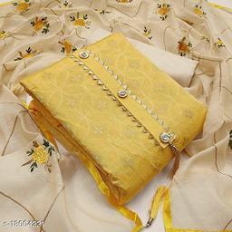 Divaastha Chanderi Yellow Woven Kurta & Churidar Material  ( VAR1010YELLOW )