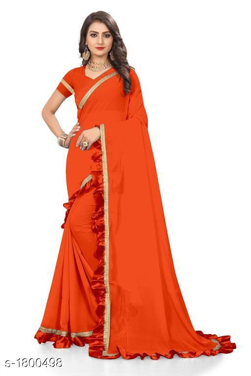 Sarees Attractive Chiffon Women's Saree  *Fabric* Saree -  Chiffon, Blouse -  Chiffon  *Size* Saree Length With Running Blouse  *Work * Ruffle Border  *Sizes Available* Free Size *    Catalog Name: Eeshani Attractive Chiffon Women's Sarees Vol 9 CatalogID_236598 C74-SC1004 Code: 005-1800498-