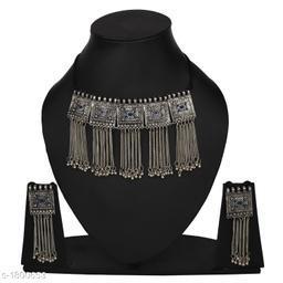 Exquisite Oxidized Silver Jewellery Set