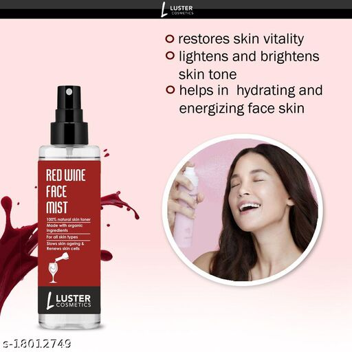 Luster Cosmetic Red Wine Face Mist Skin Toner-115ml