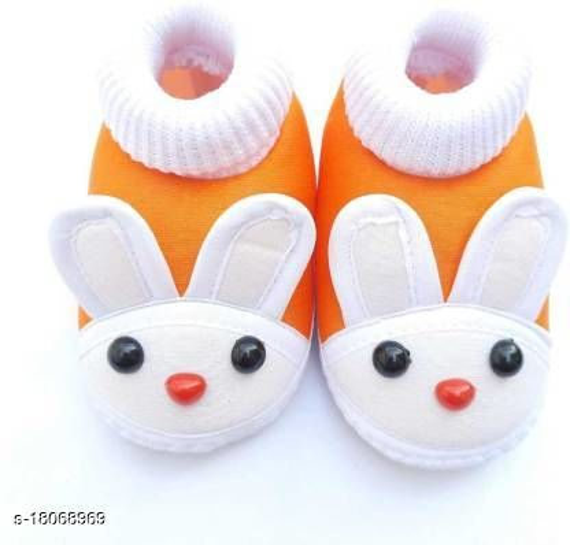 Stylish Baby PU Orange Booties