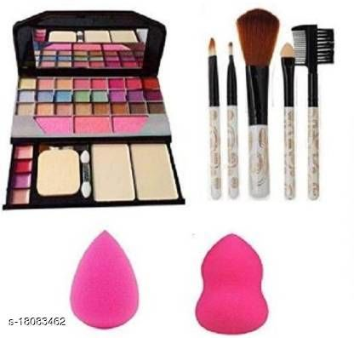 Makeup Kit Combo of Makeup Brush with Sponge Puff