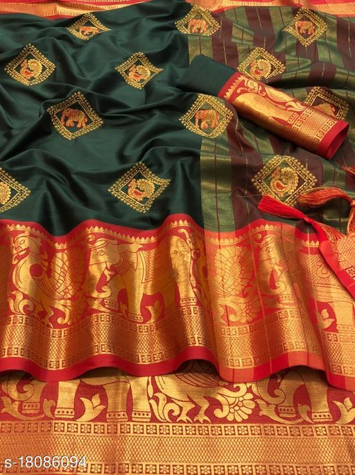 Cotton Silk in Exclusive Border Design With Embroidery work