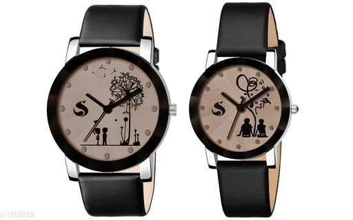 Trendy  Leather Women's Analog Watches Pack Of 2