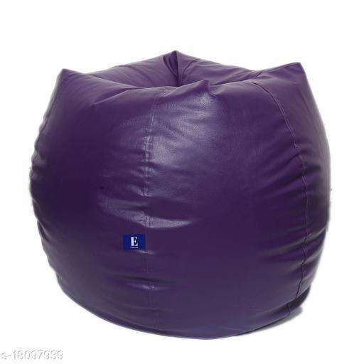 Kenji Bean Bag Cover With Beans Pruple XL