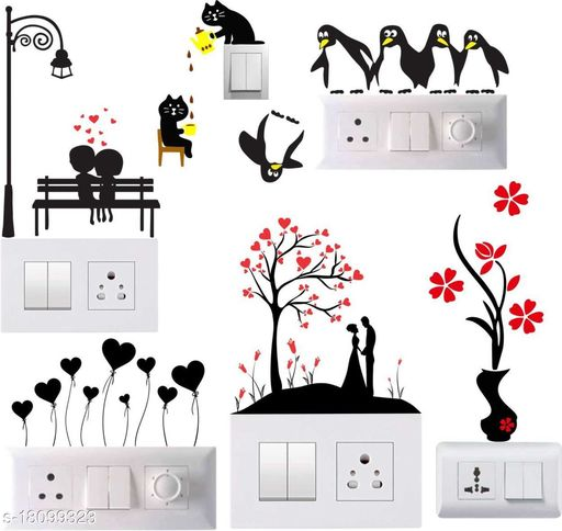 Wall Attraction Switch board sticker Size 10x12 Inch Material - Vinyl