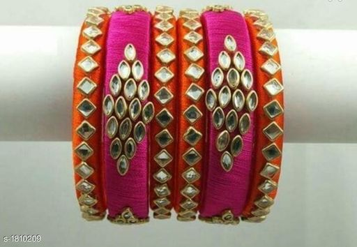 Ladies Trendy Silk Thread Bangle