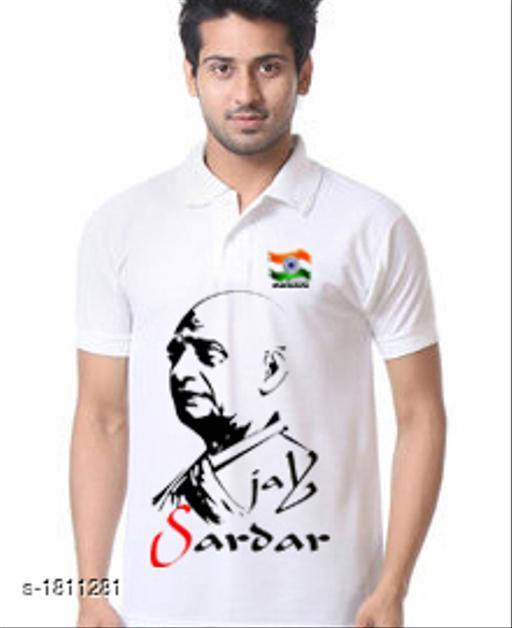 Stylish Men's Cotton Blend Printed T-Shirts