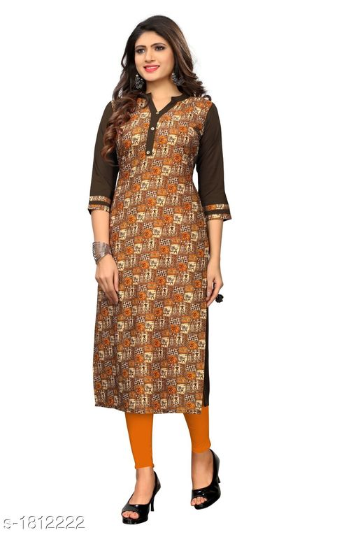 Kurtis & Kurtas Stunning Heavy American Crepe Printed Women's Kurti Fabric: American Crepe Sleeves: Sleeves Are Included Size: M - 38 in L - 40 in XL - 42 in XXL - 44 in 3XL - 46 in Length: Up to 46 in To 47 in Type: Stitched Description: It Has 1 Piece Of Women's Kurti Work: Printed Country of Origin: India Sizes Available: XXS, XS, S, M, L, XL, XXL, XXXL, 4XL, 5XL, 6XL, 7XL, 8XL, 9XL, 10XL, Free Size   Catalog Rating: ★4 (561)  Catalog Name: Myhra Stunning Heavy American Crepe Printed Women's Kurtis Vol 2 CatalogID_238275 C74-SC1001 Code: 382-1812222-