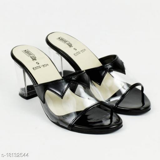 Ladies fashionable transparent Heel