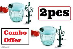 Frekich Combo XL 900ml Handy Quick Chopper Vegetable Fruit Nut Onion Cutter for Kitchen - Made in India (Green)(900 ml - Set of 2)
