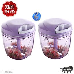 Frekich Combo Of Purple (900 ml + 900 ml) Vegetable And Fruit Chopper   Vegetable Cutter  Chilly Cutter   Tomato Cutter With 5 Stainless Steel Blade And 1 Bitter