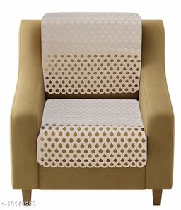Agee Home Decor 5 Seater Sofa Cover Set Laser Cut Design, Heavy Velvet Fabric Reversible Floral Design Sofa Cover for Living Room (L-69, W-23, H-28) (Set of 10 Pcs)