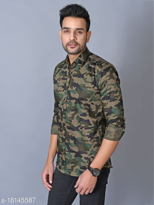 lee cross military camouflage casual green shirt