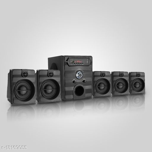 Flow 5001 5.1 Bluetooth Powered Home theatre speaker System with Aux,USB for  High Quality music.