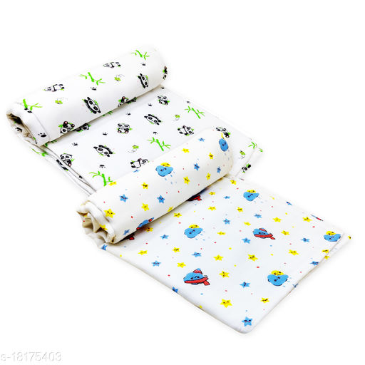 Moreno Baby's Super Soft Organic Cotton Cloud-Star & Panda Printed Muslin Swaddle (Large, 102 x 102 cm)- Pack of 2