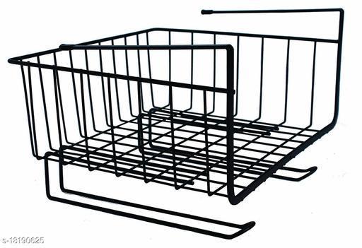 TradeVast Undershelf Basket with Hanger for Multipurpose Use (Black)