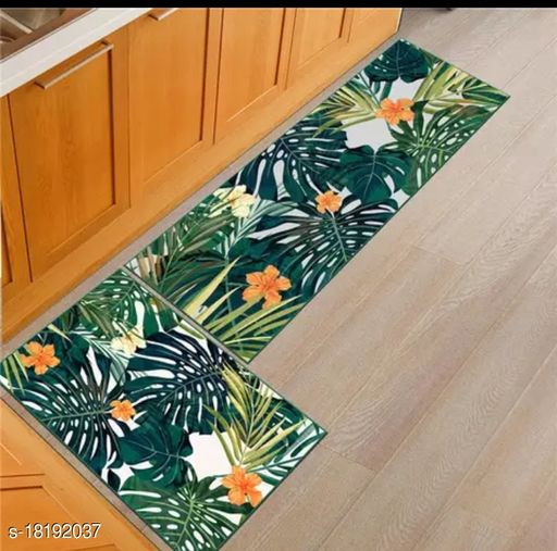 Combo Set of Anti Skid Washable Digital Printed Luxury Kitchen Floor Mat