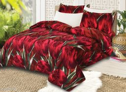 Fitted Bedsheet Hub Super cotton Double Bedsheet with two Pillow covers