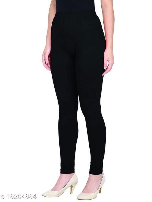 Women's Plus Size churidar leggings|Leggings For Girls |Soft Stretchable Cotton Fabric | Slim Fit Leggings | Plus size Available