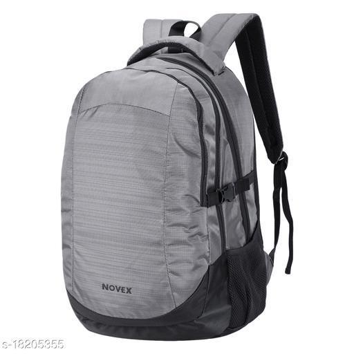 Novex Polyester, Water-Resistant Laptop Backpack (Grey)