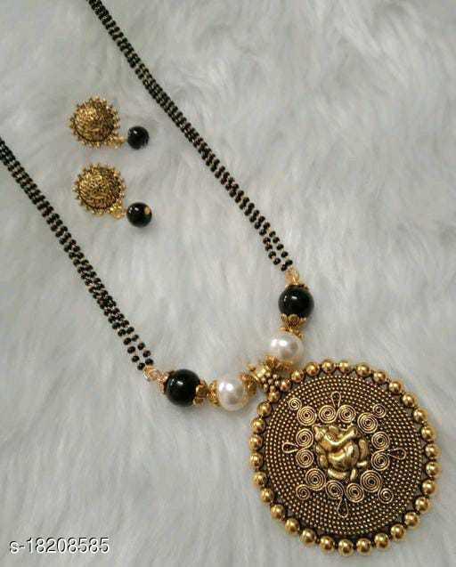 Classy Elegant Gold Oxidized Mangalsutra