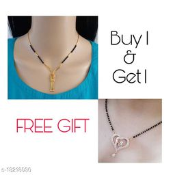 Combo Rose gold Mangalsutra with necklaces
