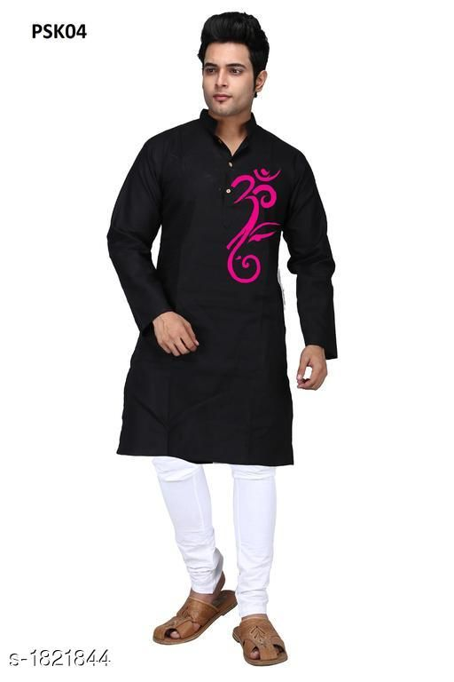 Kurtas Men's Trendy Stylish Poplin Hand Printed Kurta Fabric: Poplin Sleeves: Full Sleeves Are Included Size:  SMLXL2XL3XL4XL5XL (Refer Size Chart) Length: Refer Size Chart Type: Stitched Description: It Has 1 Piece Of Men's Kurta Work: Hand Printed Country of Origin: India Sizes Available: XS, S, M, L, XL, XXL, XXXL, 4XL, 5XL *Proof of Safe Delivery! Click to know on Safety Standards of Delivery Partners- https://ltl.sh/y_nZrAV3  Catalog Rating: ★4 (455)  Catalog Name: Men's Trendy Stylish Poplin Hand Printed Kurtas Vol 1 CatalogID_239570 C66-SC1200 Code: 624-1821844-