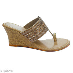 TRENDS & TRADES Kolhapuri Embroidery Wedges