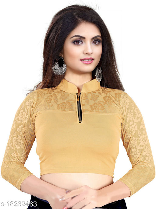 PU Designer Stretchable Blouse with premium fabric quality - Designer collections