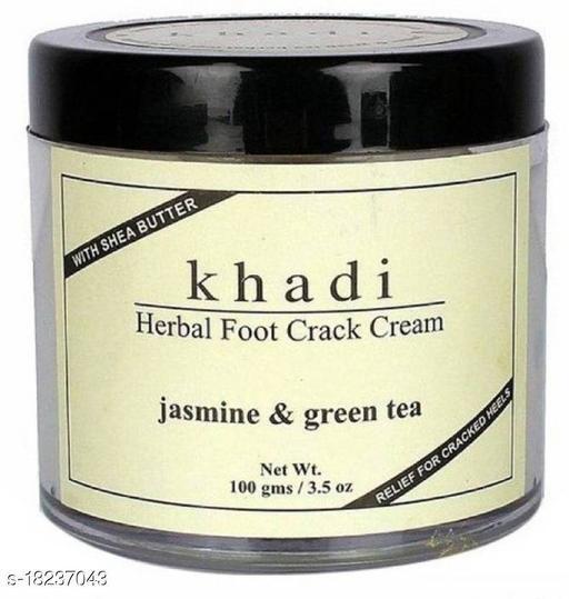 Khadi Herbal FOOT CRACK CREAM(JASMINE & GREEN TEA)100mg(100 g)