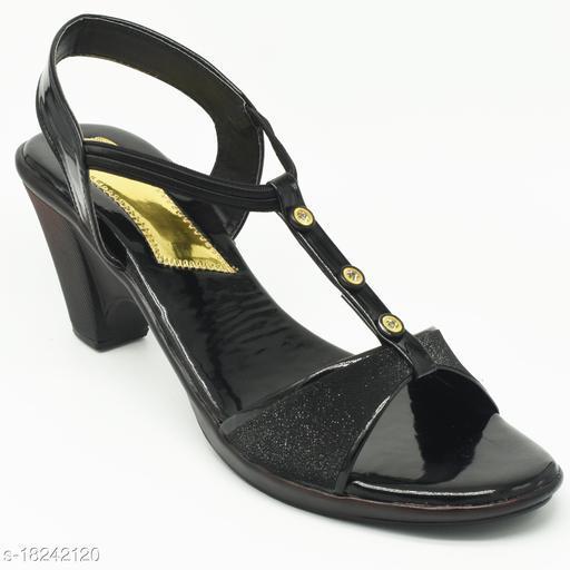 Attractive Women's Mesh Black Heels