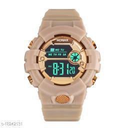 Skylark Boys Kids Watch Gold Black Vintage LCD Digital Military Wrist watches