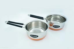 Kitchen Krafts 2pcs Copper bottom  Saucepan with handle (16+18cm)