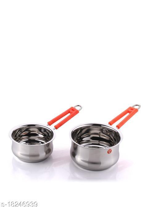 Kitchen Krafts 2pcs Belly  Saucepan with handle (16+18cm)