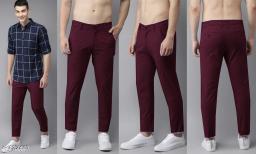 fashlook maroon casual pant for men