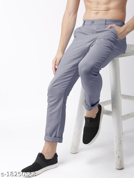 fashlook grey casual pant for men