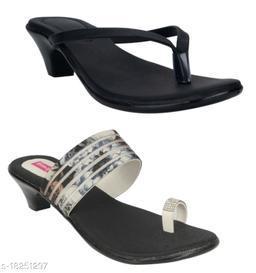 Attractive Women's Combo Synthetic Multicolor Heels