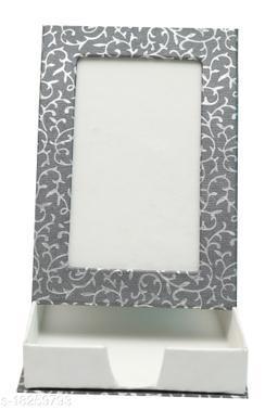 Kagzi Handicrafts Paper Photo Frame (Grey, Silver 9*16)