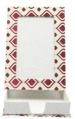 Kagzi Handicrafts Paper Photo Frame (Red, Brown,9*16)