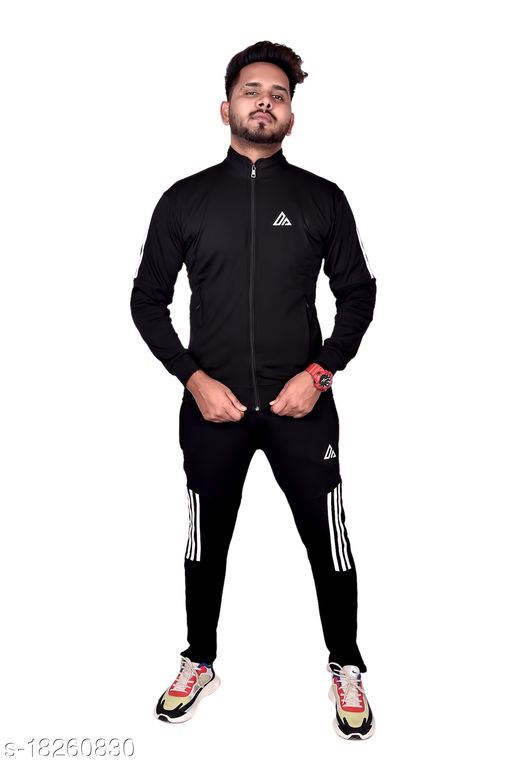 Fit India Sports Men All weather Tracksuit Top & Bottom for Men