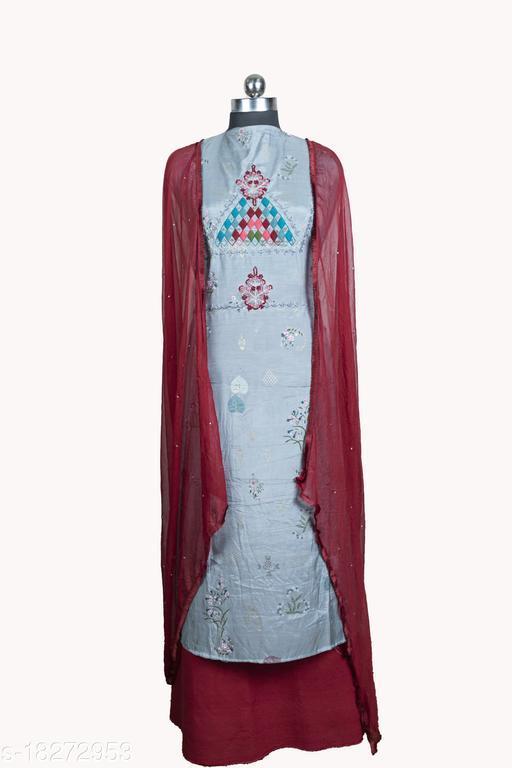 Trendy Muslin Salwar Suits & Dress Materials