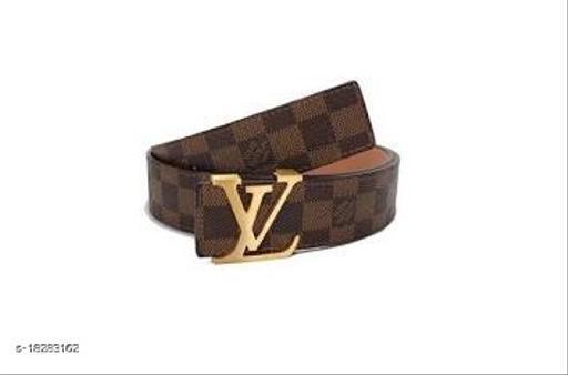 Designer Faux Leather Men's Belt