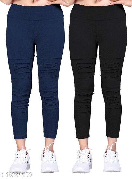 Trendy Women Jeggings Pack Of 2(Size:-26 to 36)