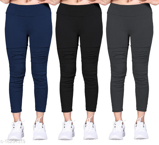 Trendy Women Jeggings Pack Of 3(Size:-26 to 36)