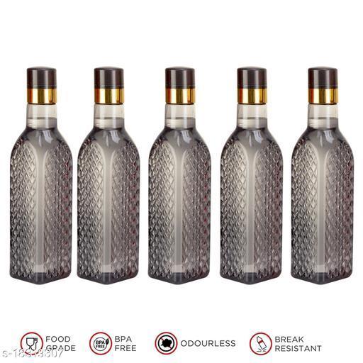Saura Eifel Fridge Bottle 1000 ml Set of 5 Smoke Black