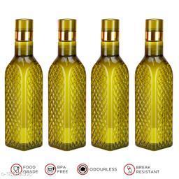 Saura Eifel Fridge Bottle 1000 ml Set of 4 Green