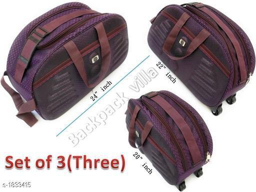 Trendy Men's Pack of 3 Brown Duffel Bags
