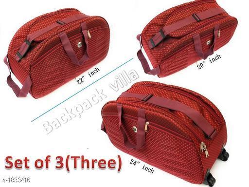 Trendy Men's Pack of 3 Red Duffel Bags