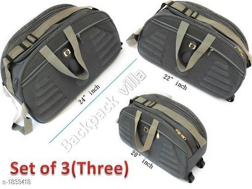 Trendy Men's Pack of 3 Grey Duffel Bags